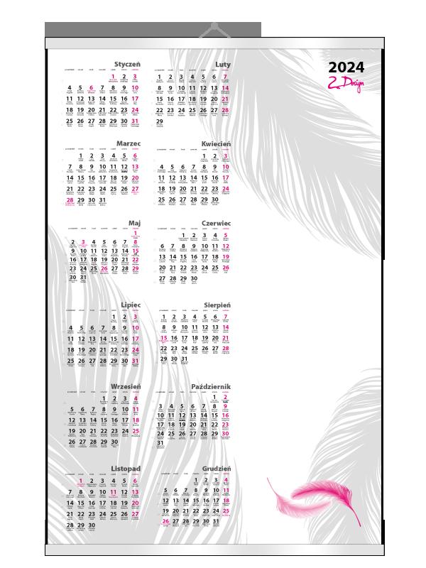 2design Kalendarze Planszowe B1 indywidualne