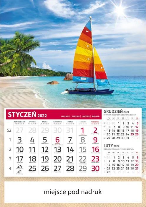Kalendarze jednodzielne tanie
