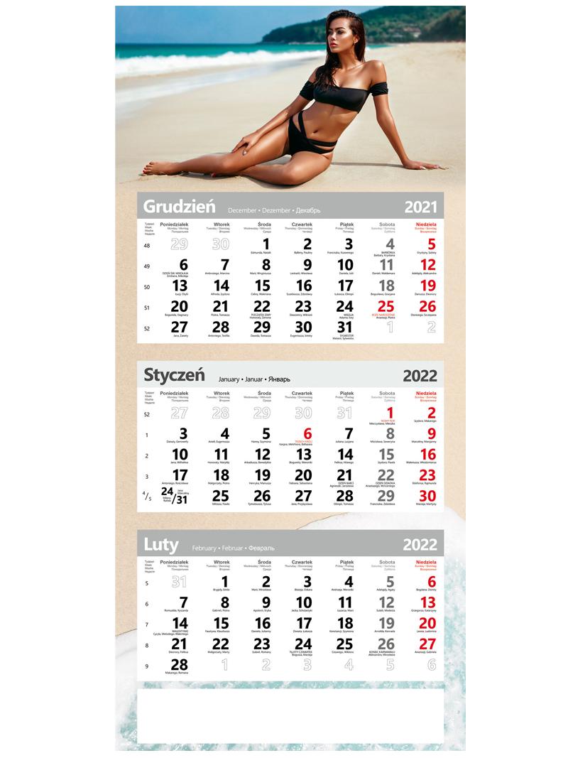 Kalendarze trójdzielne poster